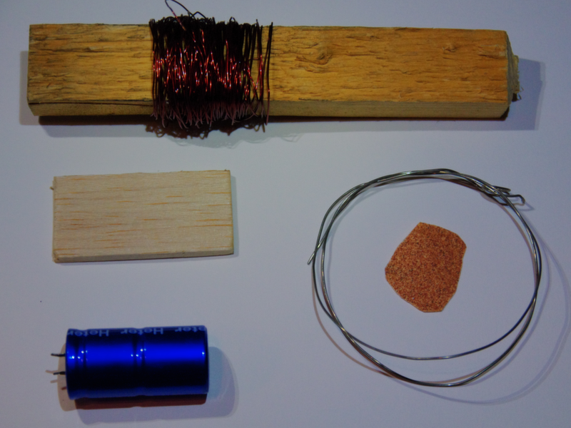 The parts for a DC Induction Motor